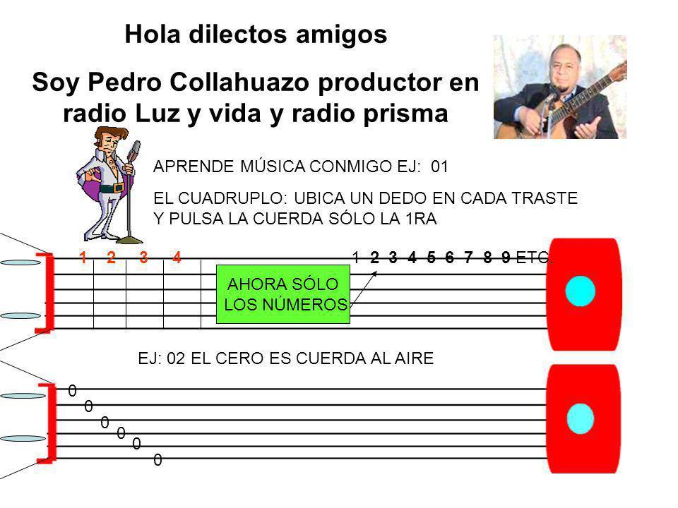 Soy Pedro Collahuazo productor en radio Luz y vida y radio prisma