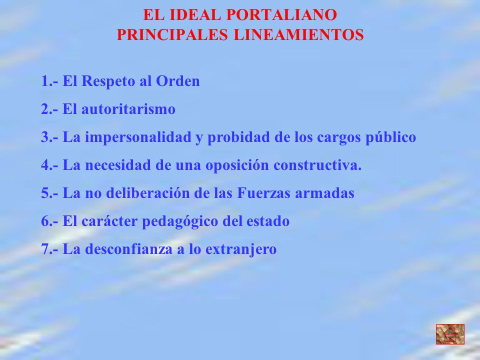 EL IDEAL PORTALIANO PRINCIPALES LINEAMIENTOS
