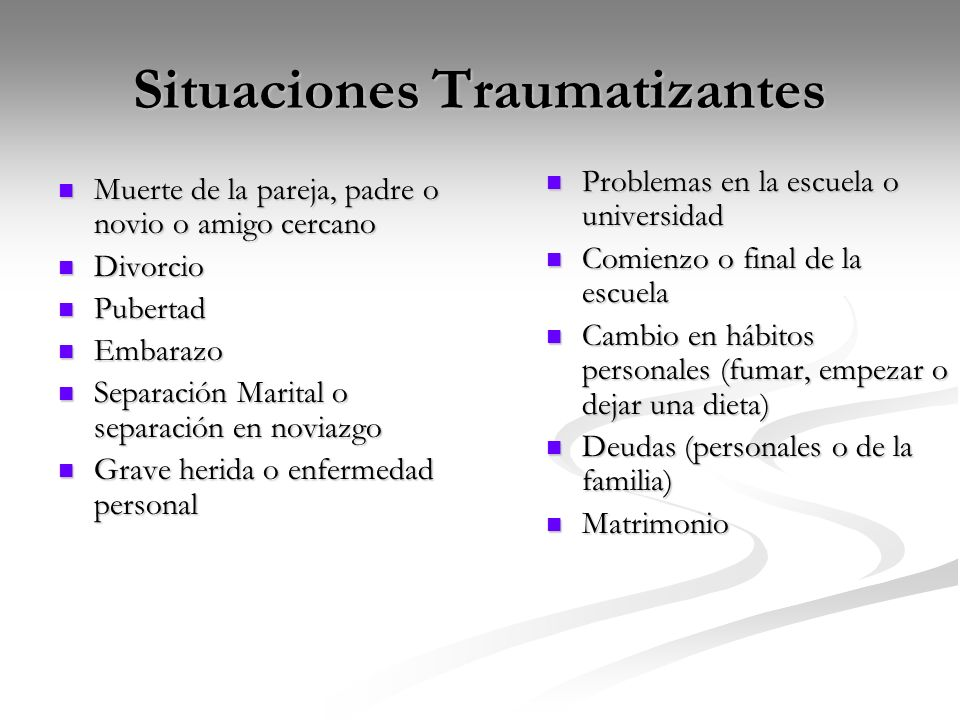 Situaciones Traumatizantes