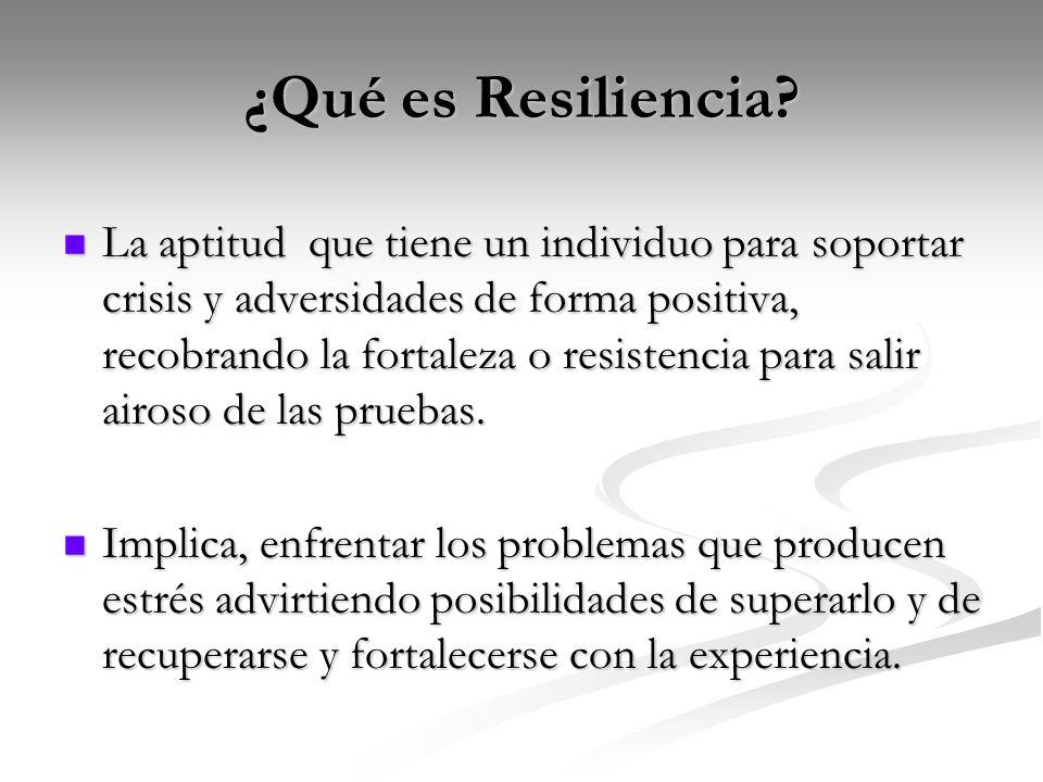 ¿Qué es Resiliencia