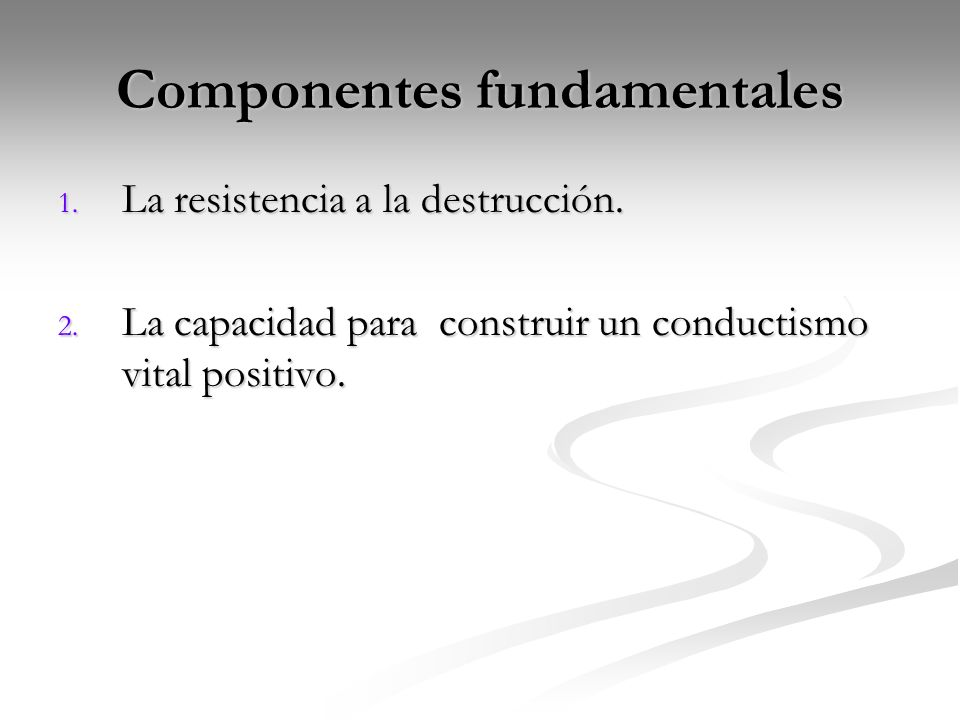 Componentes fundamentales
