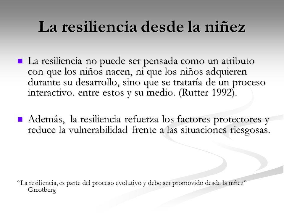 La resiliencia desde la niñez