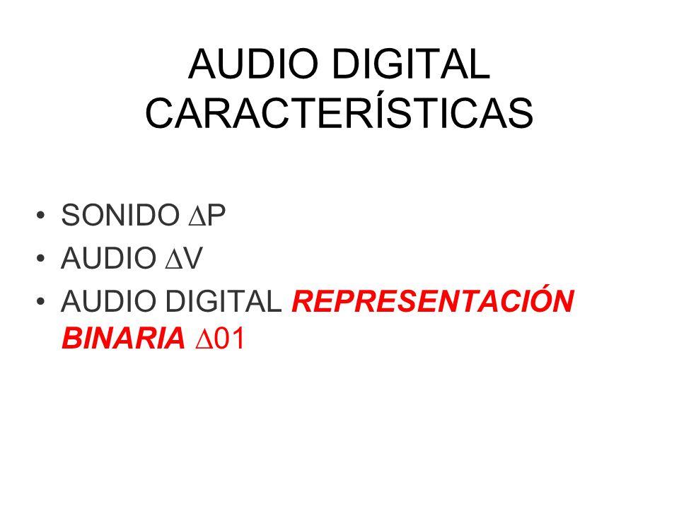 AUDIO DIGITAL CARACTERÍSTICAS