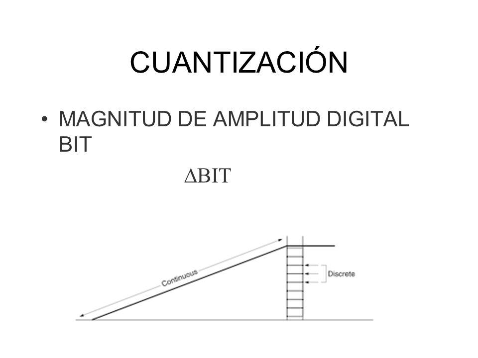 CUANTIZACIÓN MAGNITUD DE AMPLITUD DIGITAL BIT DBIT