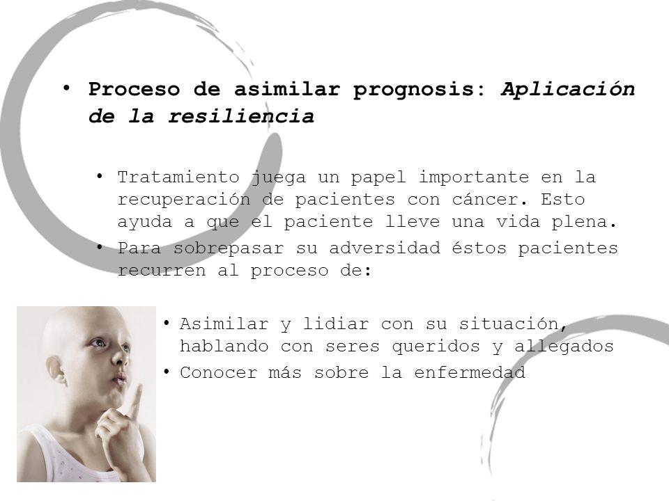Proceso de asimilar prognosis: Aplicación de la resiliencia