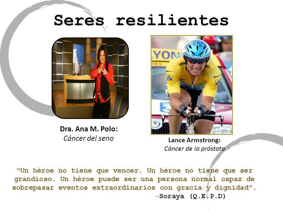 Seres resilientes Dra. Ana M. Polo: Cáncer del seno Lance Armstrong: