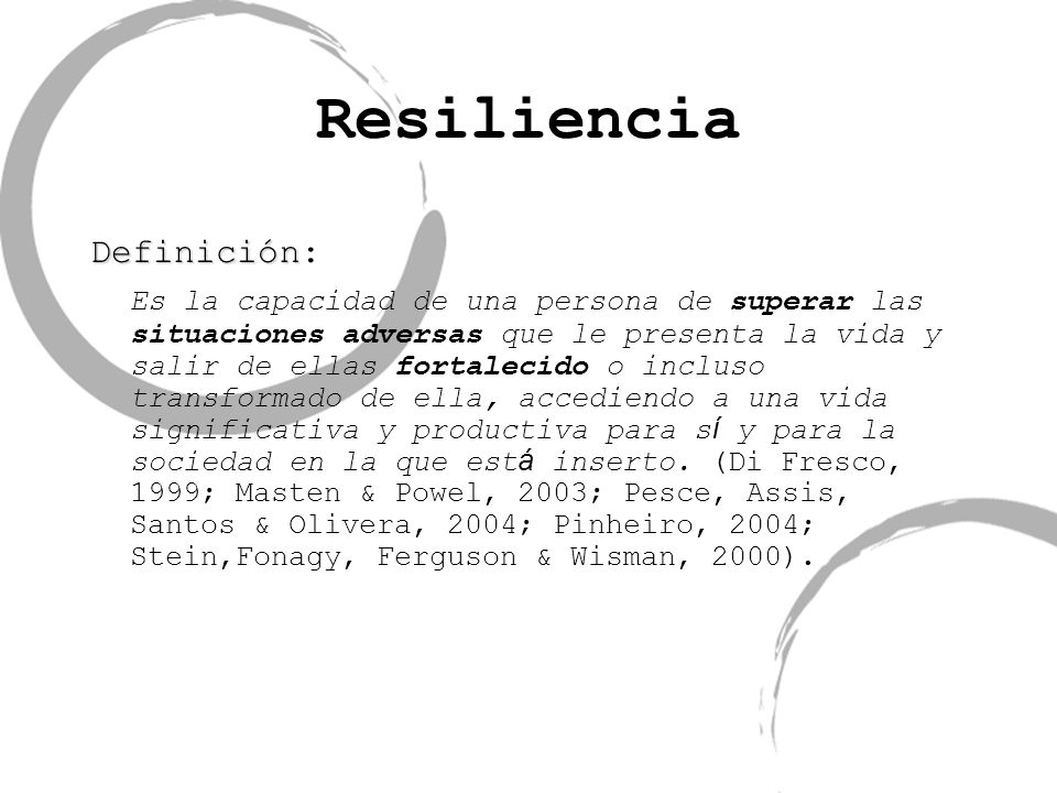 Resiliencia Definición: