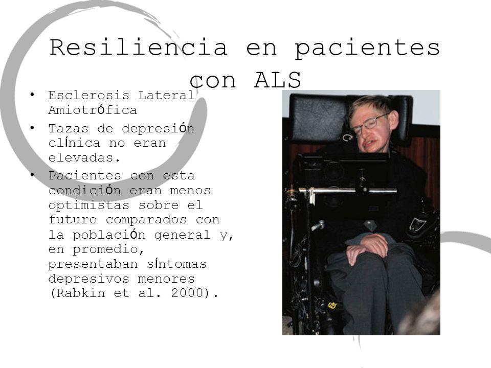 Resiliencia en pacientes con ALS