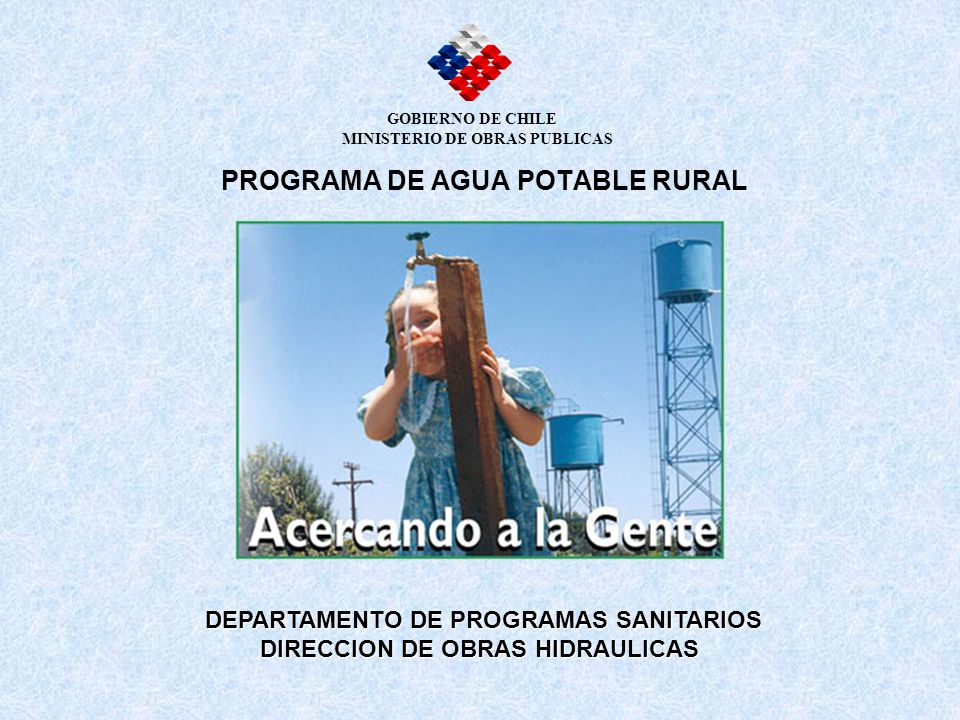PROGRAMA DE AGUA POTABLE RURAL