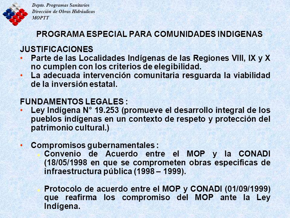 PROGRAMA ESPECIAL PARA COMUNIDADES INDIGENAS