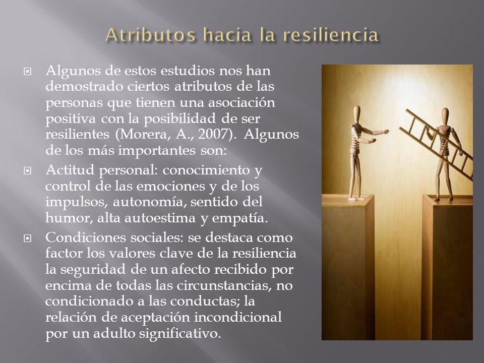 Atributos hacia la resiliencia