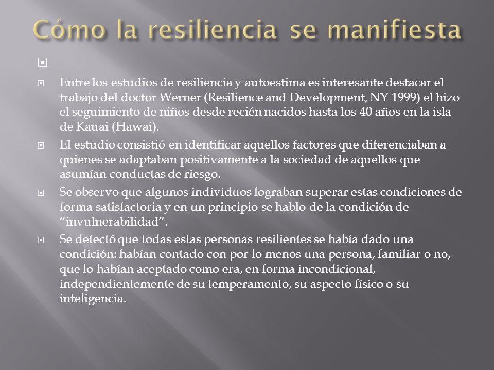Cómo la resiliencia se manifiesta