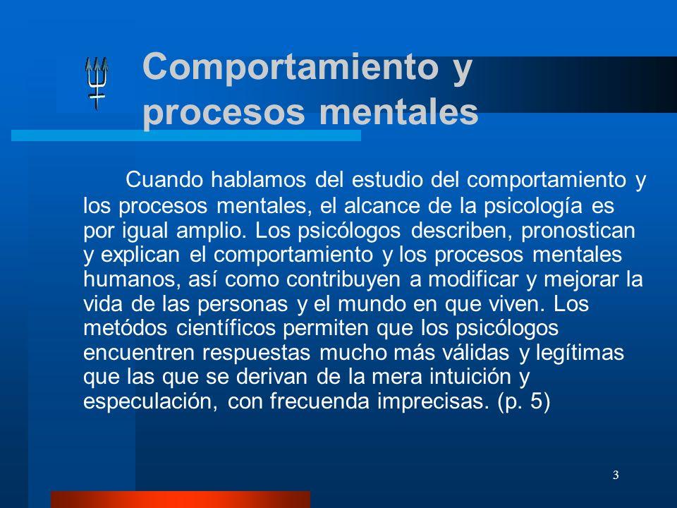 Comportamiento y procesos mentales