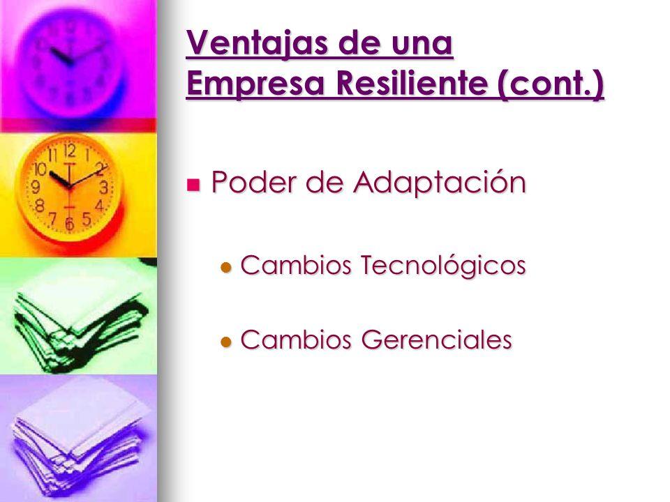 Ventajas de una Empresa Resiliente (cont.)