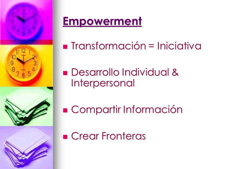 Empowerment Transformación = Iniciativa