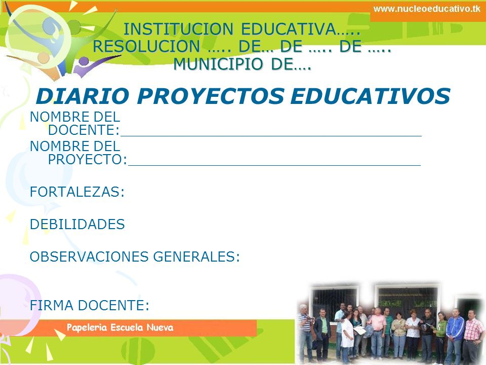 DIARIO PROYECTOS EDUCATIVOS