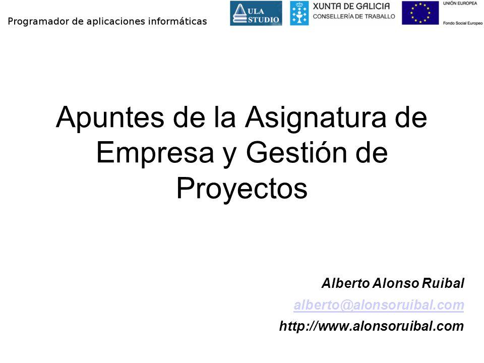 Apuntes de la Asignatura de Empresa y Gestión de Proyectos
