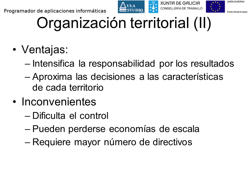 Organización territorial (II)