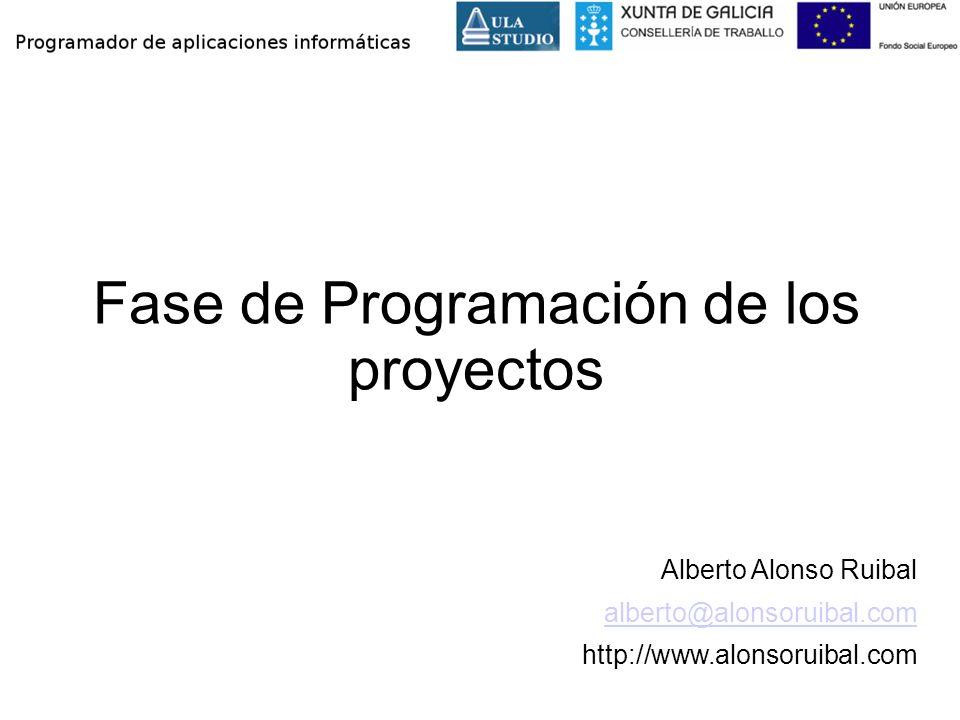 Fase de Programación de los proyectos