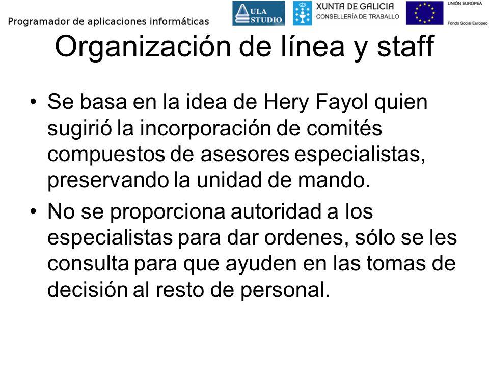 Organización de línea y staff