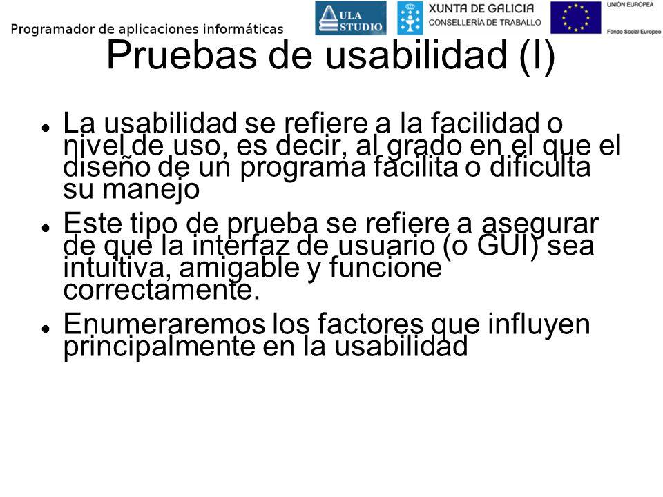Pruebas de usabilidad (I)