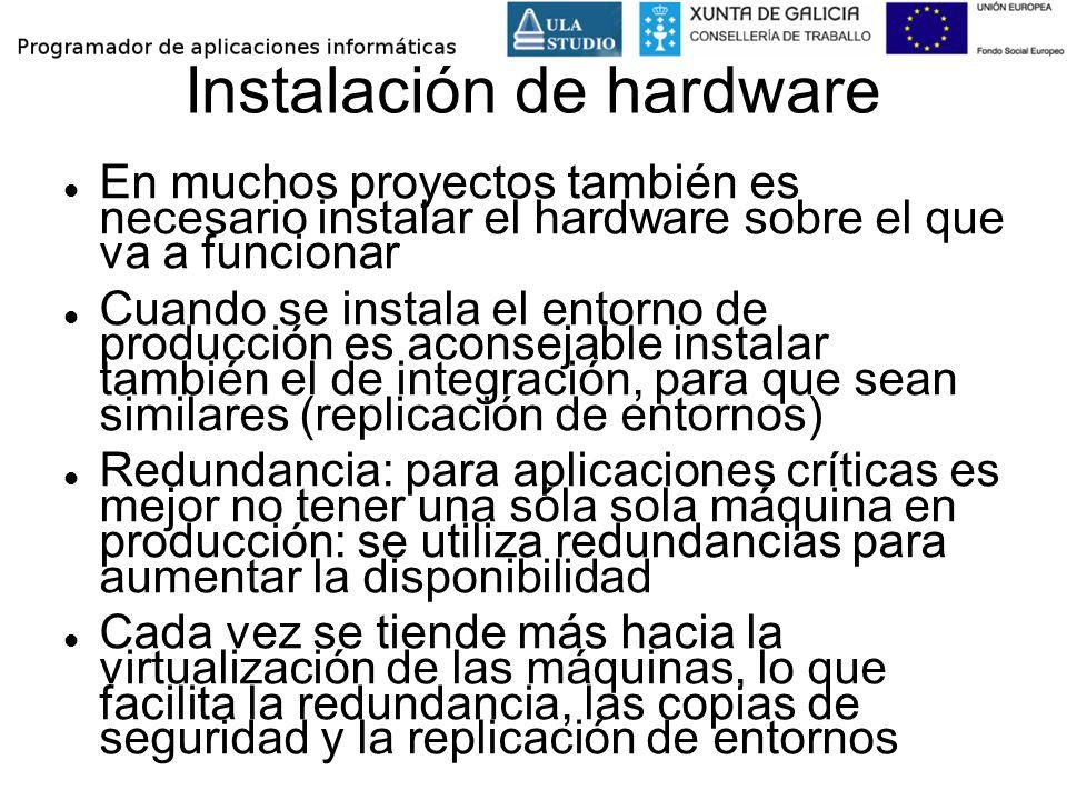 Instalación de hardware