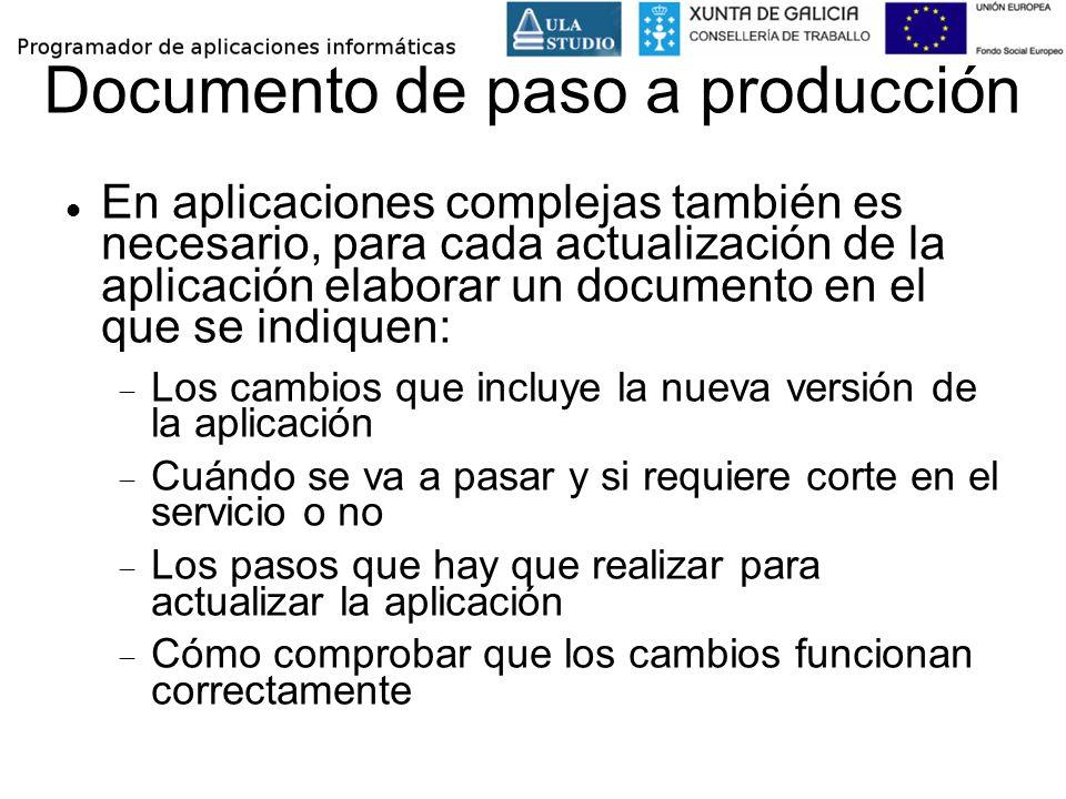 Documento de paso a producción