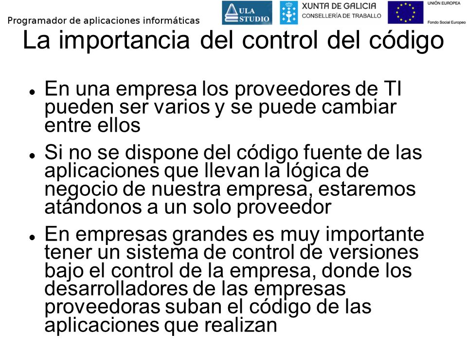 La importancia del control del código