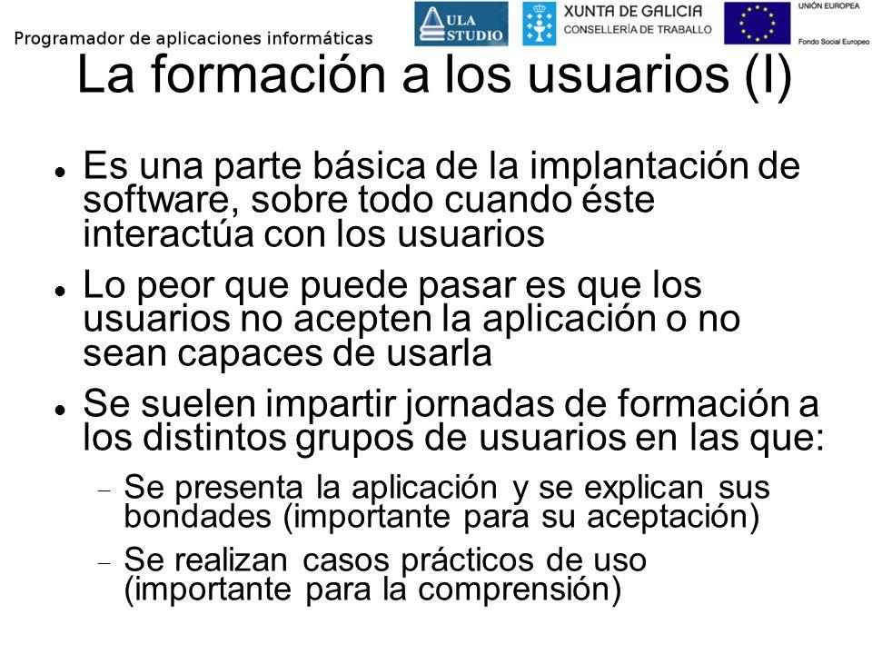 La formación a los usuarios (I)