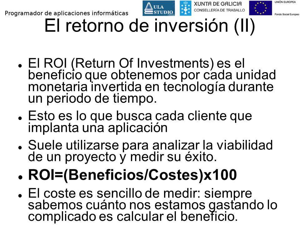 El retorno de inversión (II)