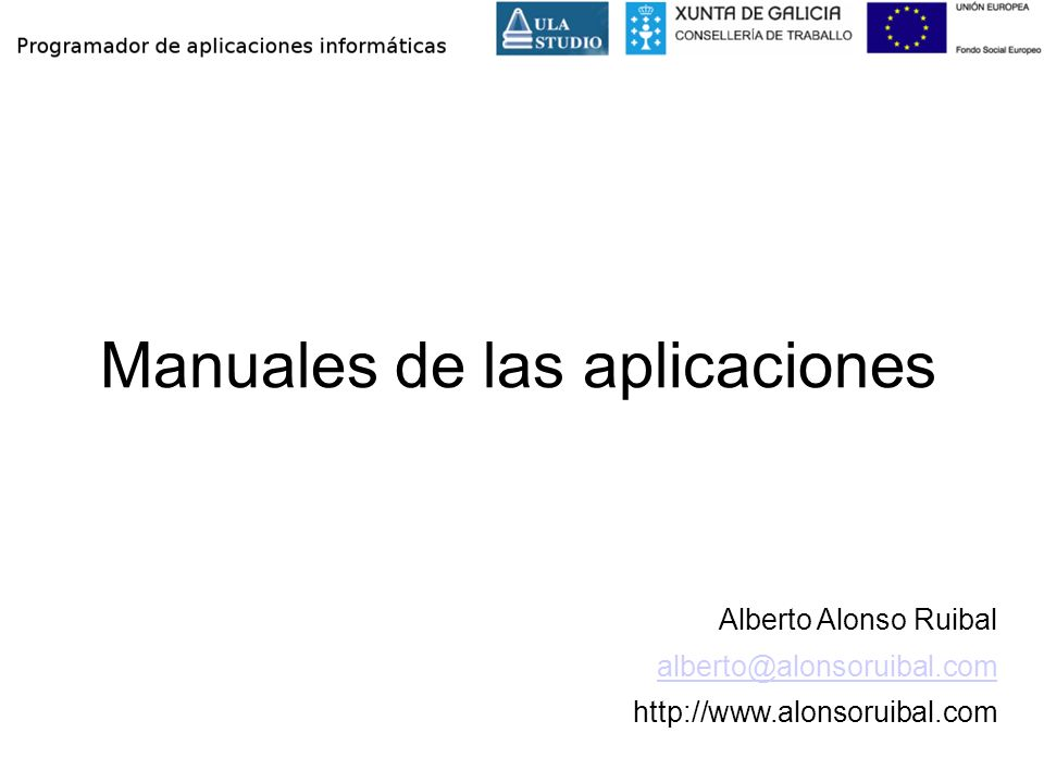 Manuales de las aplicaciones