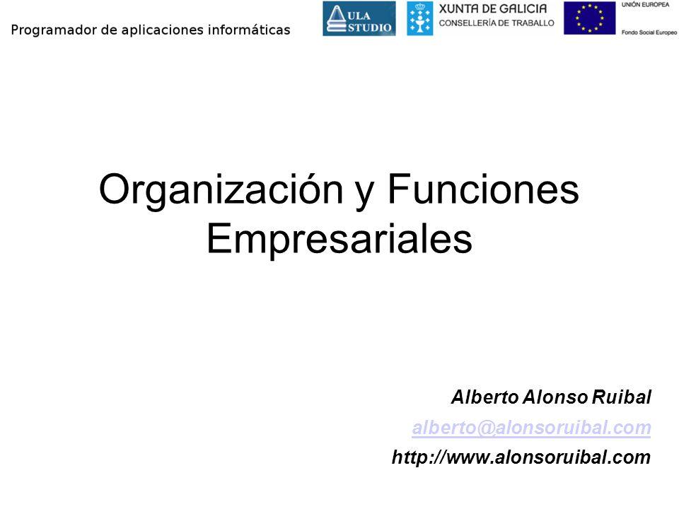 Organización y Funciones Empresariales