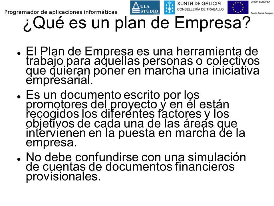 ¿Qué es un plan de Empresa