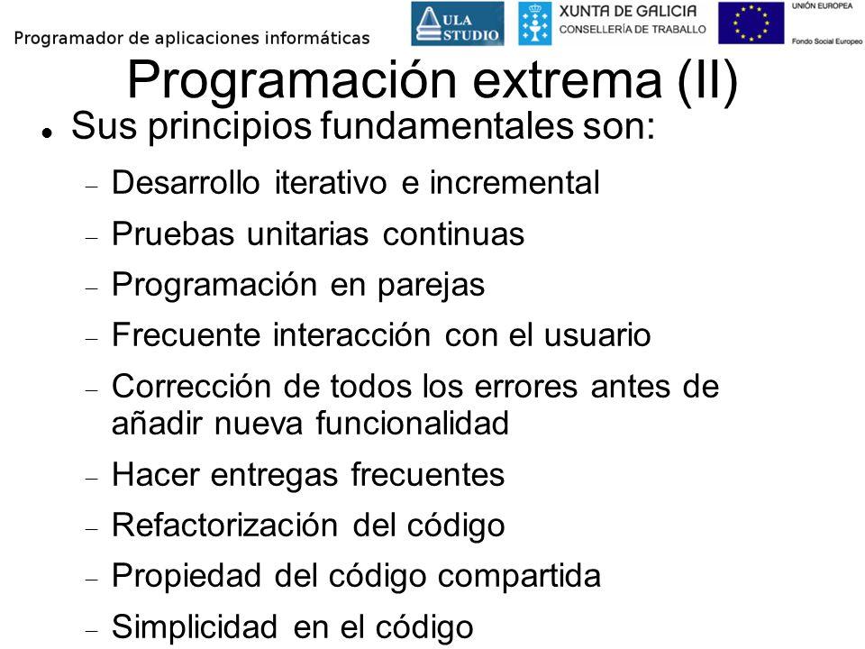 Programación extrema (II)