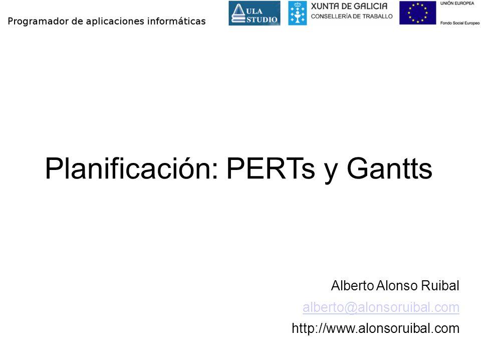 Planificación: PERTs y Gantts