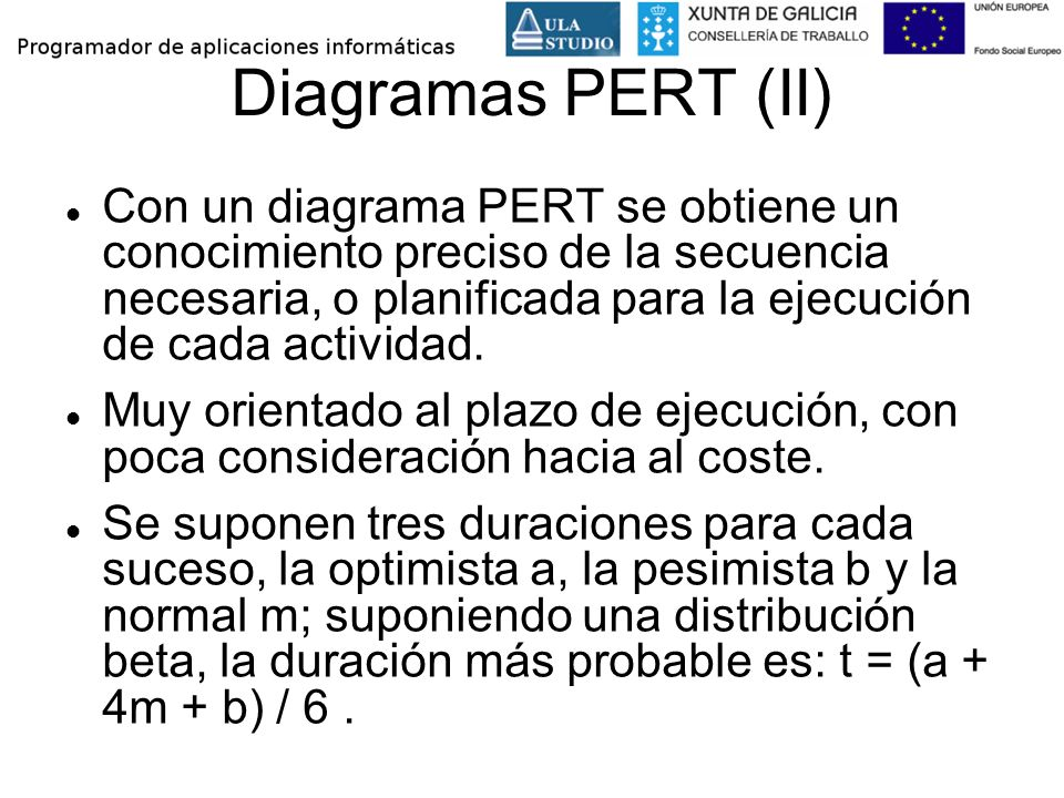 Diagramas PERT (II)