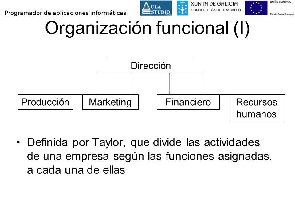 Organización funcional (I)