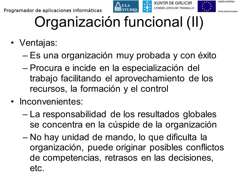 Organización funcional (II)