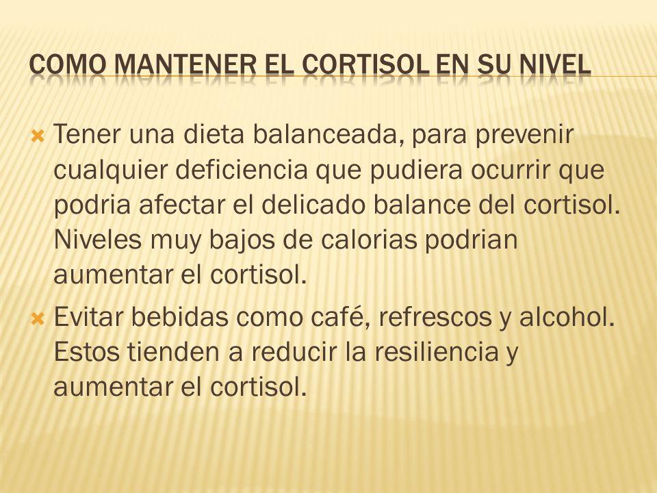 Como mantener el cortisol en su nivel