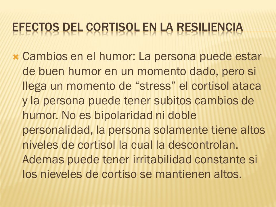 Efectos del cortisol en la resiliencia