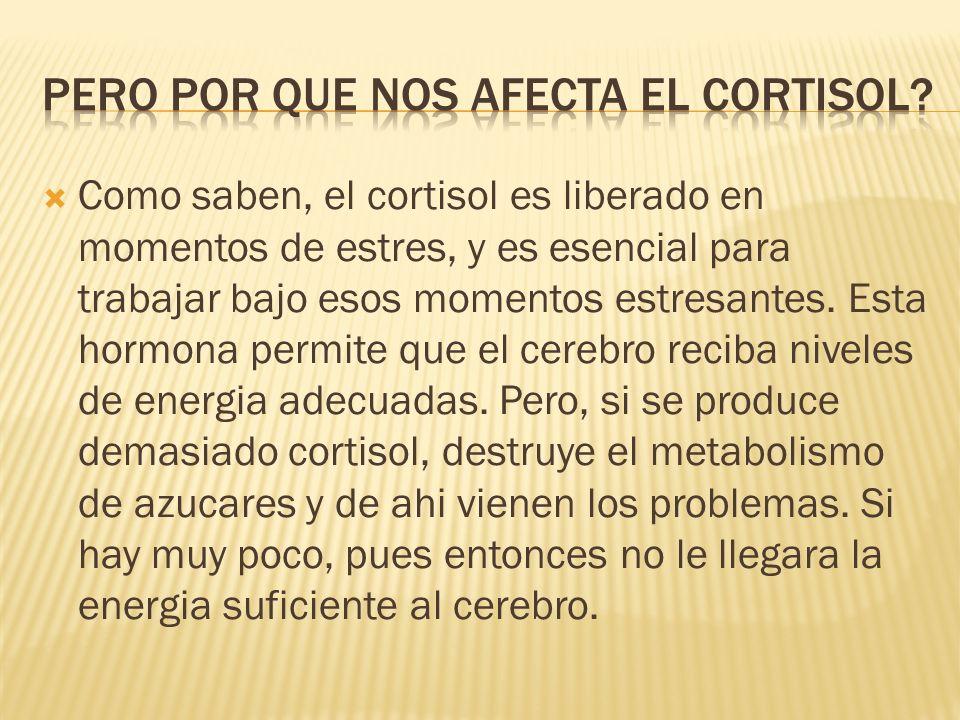 Pero por que nos afecta el cortisol
