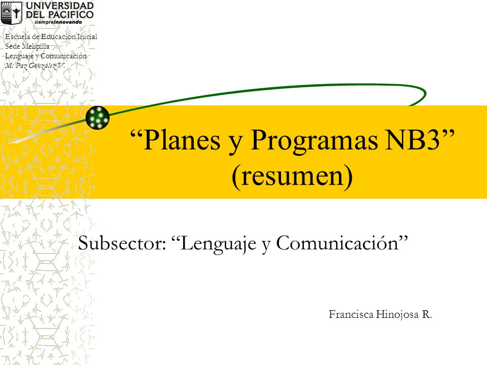 Planes y Programas NB3 (resumen)