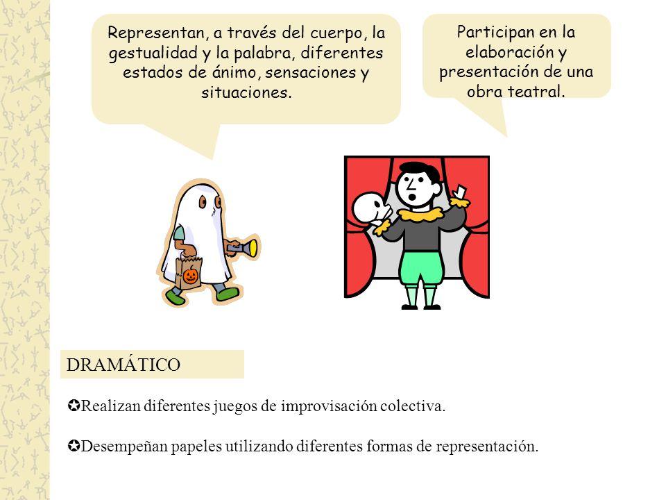 Participan en la elaboración y presentación de una obra teatral.