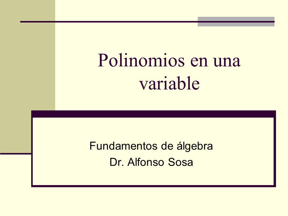 Polinomios en una variable