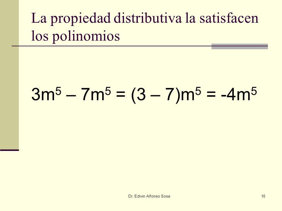 La propiedad distributiva la satisfacen los polinomios