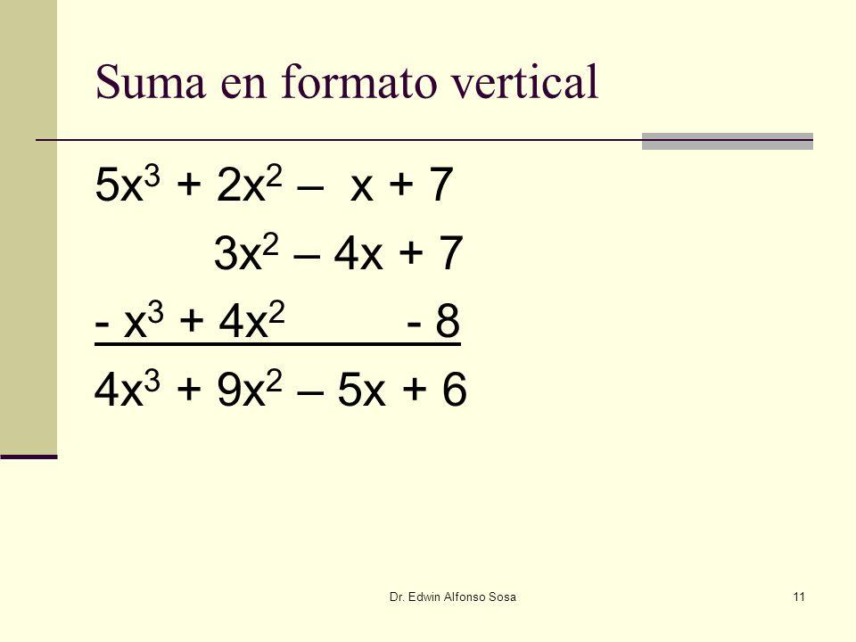 Suma en formato vertical