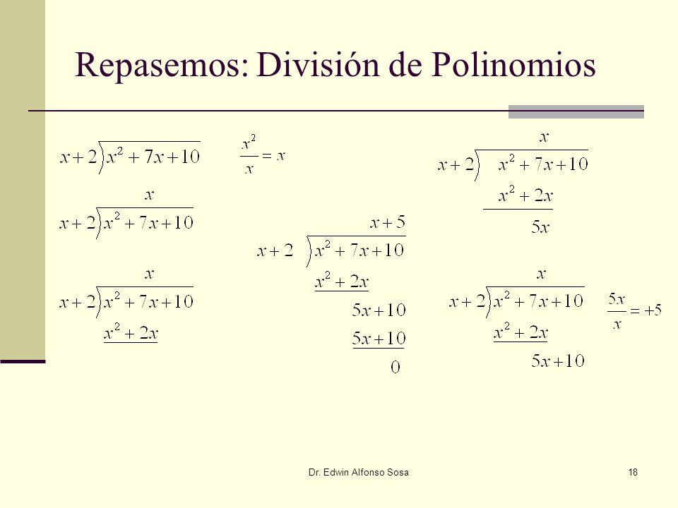 Repasemos: División de Polinomios