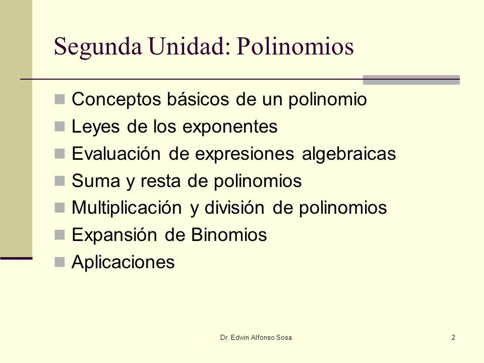 Segunda Unidad: Polinomios