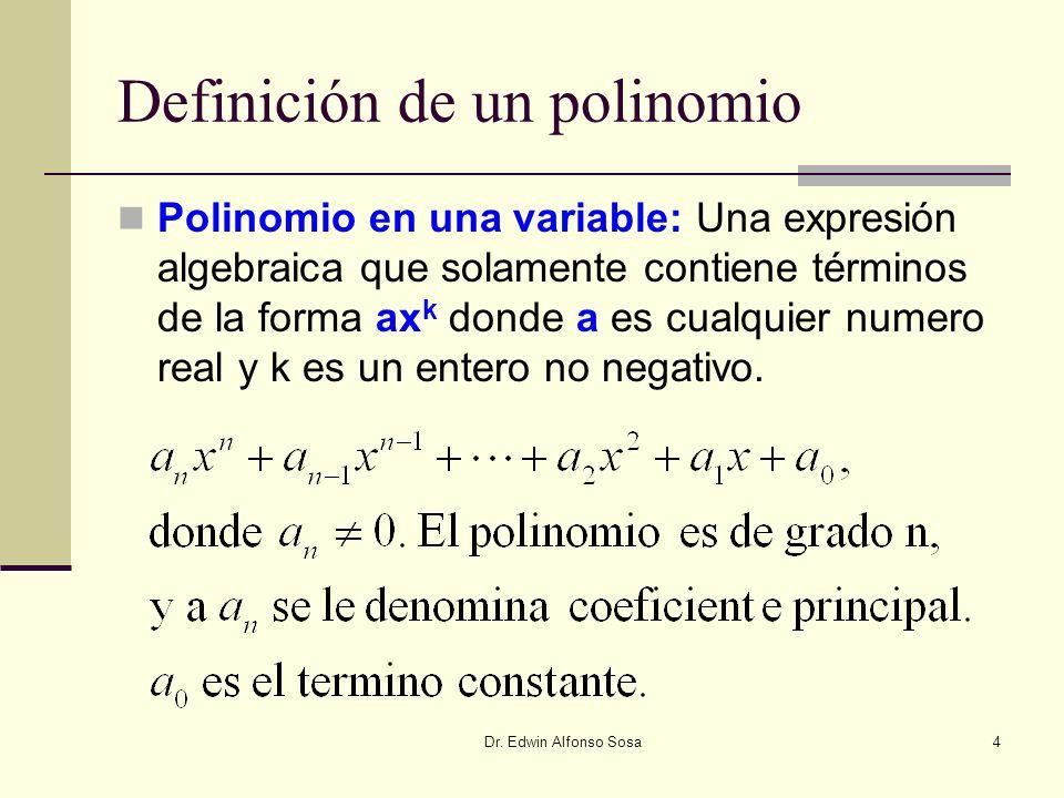 Definición de un polinomio
