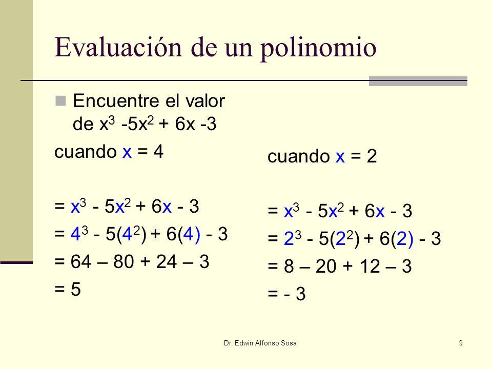 Evaluación de un polinomio